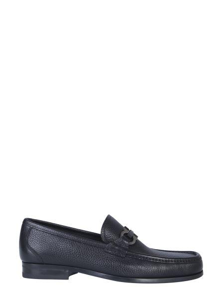 Salvatore Ferragamo - Large Gancino Hammered Leather Loafer