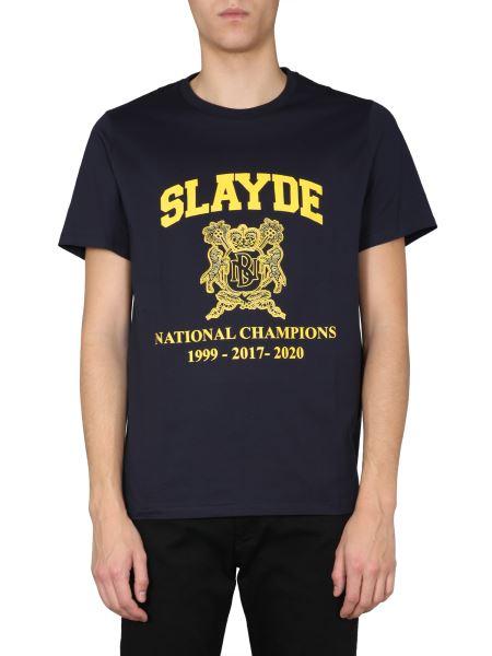 """Neil Barrett - """"slayde"""" Round Neck Cotton T-shirt"""