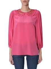 RED VALENTINO - BLUSA IN SETA
