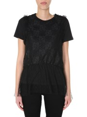 RED VALENTINO - T-SHIRT SCOLLO TONDO