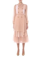 RED VALENTINO - TRENCH IN TULLE