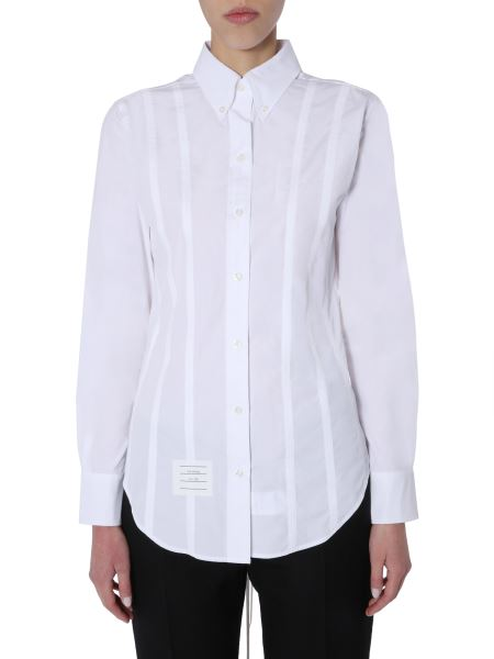 Thom Browne - Cotton Poplin Shirt With Back Laces