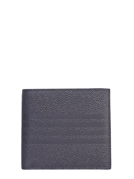 Thom Browne - Billfold Granulated Leather Wallet With Logo