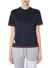 THOM BROWNE - T-SHIRT GIROCOLLO