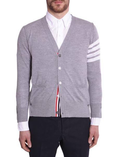 Thom Browne - V-neck Merino Wool Cardigan