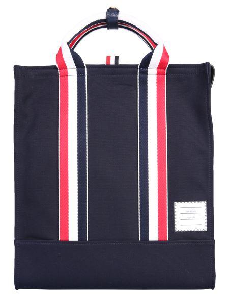 Thom Browne - Canvas Logo Shopping Bag