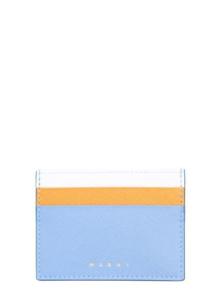 Marni - Tricolored Saffiano Leather Card Holder