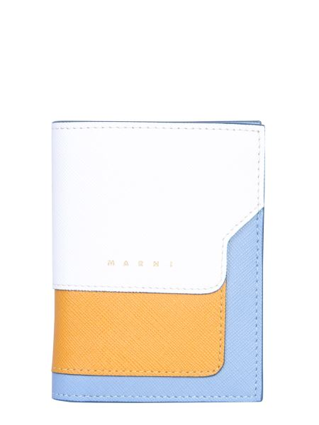 Marni - Tricolored Bifold Saffiano Leather Wallet
