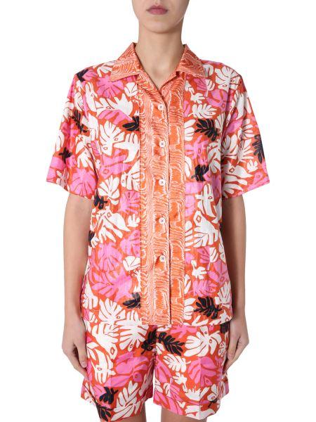 Marni - Printed Linen Shirt With