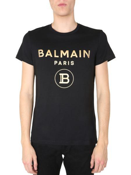 Balmain - Crew Neck Cotton T-shirt With Logo