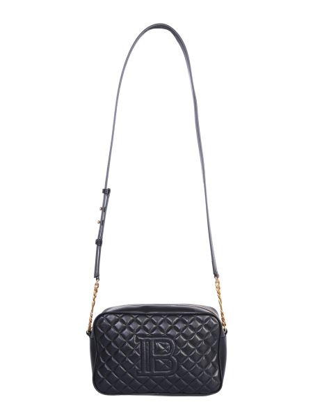 Balmain - Crossbody Bag With Quilted Leather Logo