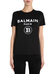 BALMAIN - T-SHIRT GIROCOLLO