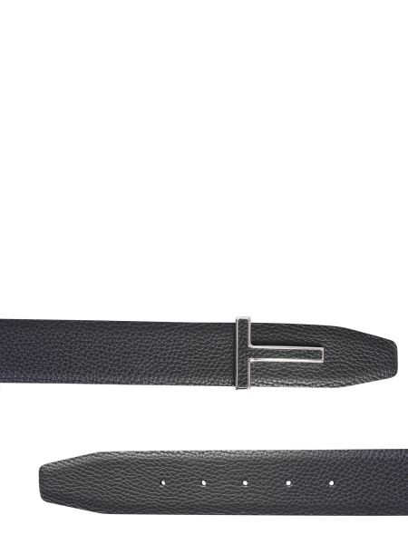 Tom Ford - Leather Belt With Logo