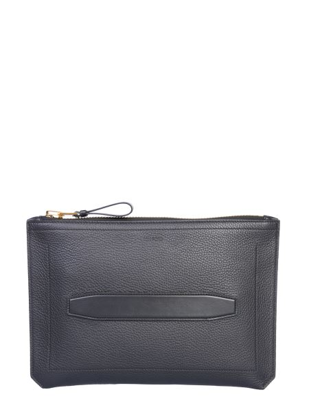 Tom Ford - Hammered Leather Pouch With Handle