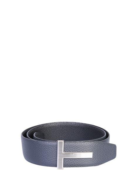 Tom Ford - Cintura In Pelle Con Logo