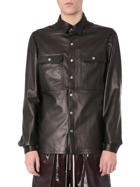 Rick Owens - Leather Jacket With Pockets