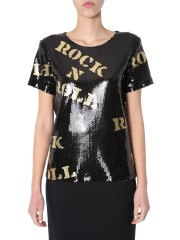 MOSCHINO - T-SHIRT CON PAILLETTES
