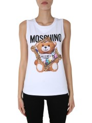 MOSCHINO - TOP CON STAMPA