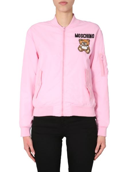 Moschino - Embroidered Logo And Teddy Bomber