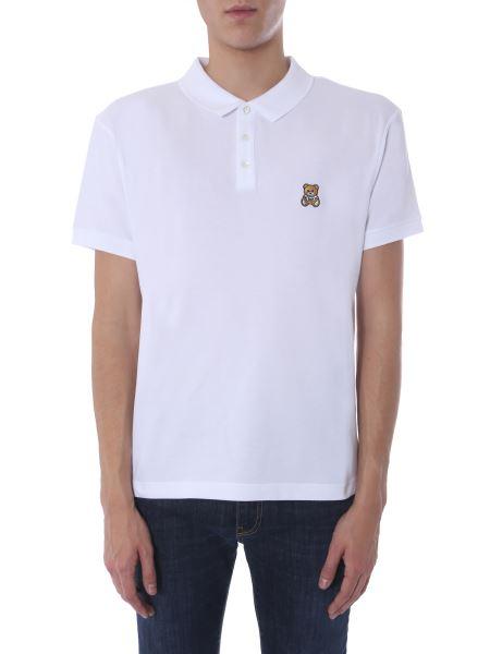 Moschino - Teddy Bear Patch Cotton Polo Shirt