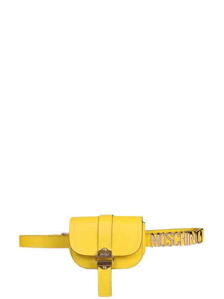 Moschino - Brushed Leather Belt Bag With Logo