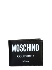 MOSCHINO - PORTAFOGLIO BIFOLD CON LOGO