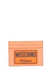 MOSCHINO - PORTACARTE CON PATCH LOGO
