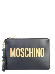 MOSCHINO - POUCH CON MAXI LOGO