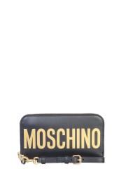 MOSCHINO - PORTAFOGLIO LUNGO CON MAXI LOGO