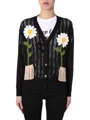 BOUTIQUE MOSCHINO - CARDIGAN SCOLLO A V