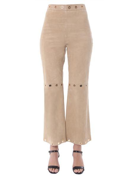 Alberta Ferretti - Suede Trousers With Circular Details
