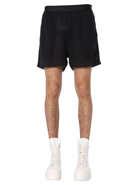 Rick Owens - Basket Bermuda Mesh Shorts With Logo Patch