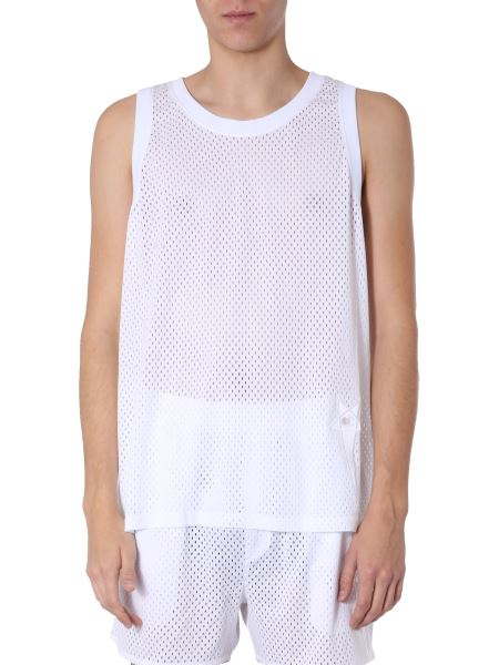 Rick Owens - Mesh Tank With Logo Patch