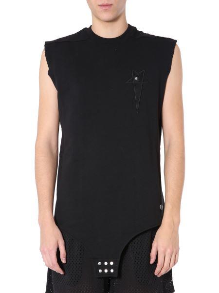 Rick Owens - Plush Cotton Bodysuit With Logo