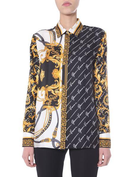 Versace - Silk Shirt With Logo Print