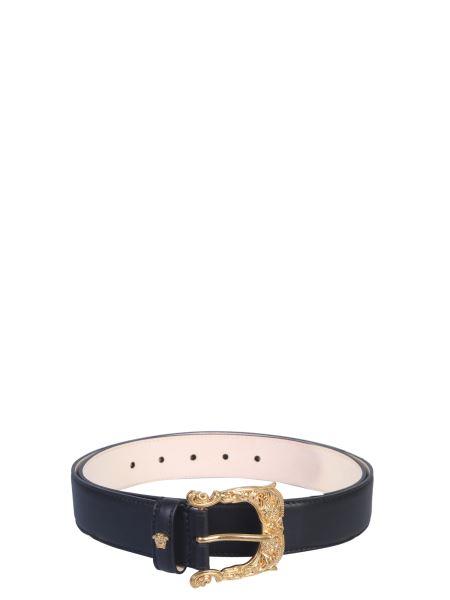 Versace - Baroque Leather Buckle Belt