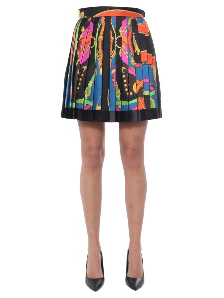 Versace - Pleated Skirt With Baroque Rodeo Print