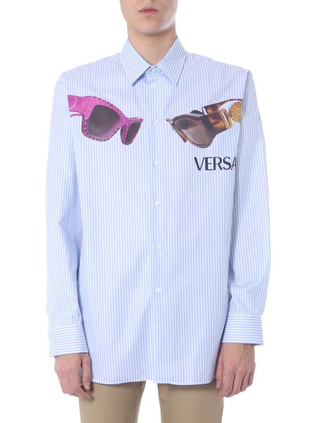 Versace - Medusa And Biggie Print Cotton Shirt