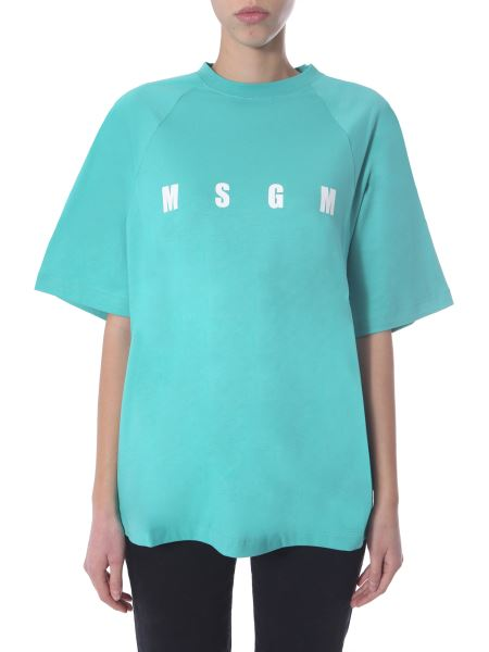 Msgm - Cotton T-shirt With Logo