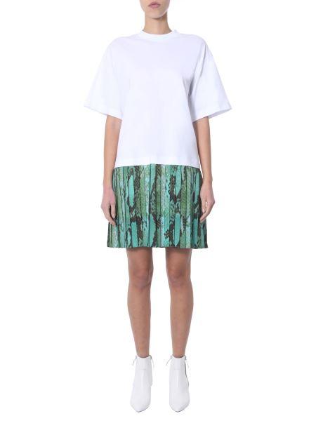 Msgm - Mini Crew Neck Cotton Dress