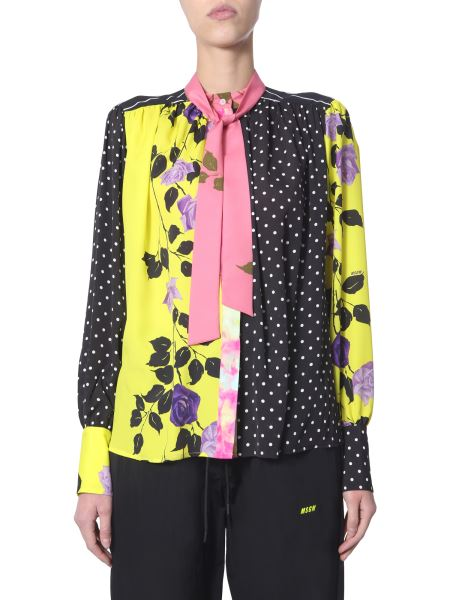 Msgm - Fantasy Shirt With Bow