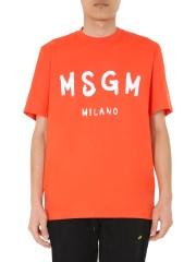 MSGM - T-SHIRT GIROCOLLO