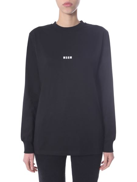Msgm - Cotton Sweater With Logo