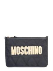MOSCHINO - CLUTCH CON MAXI LOGO