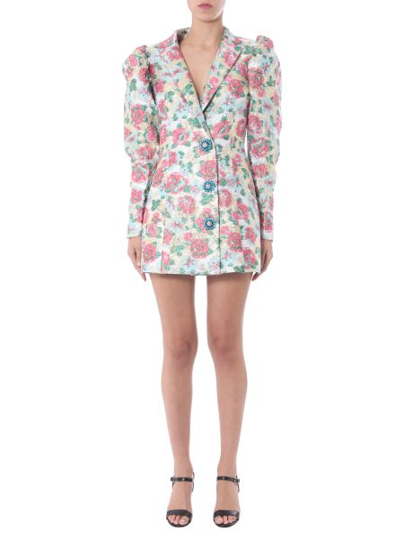 "Rotate Birger Christensen - ""carol"" Blazer Jacquard Dress With Metallic Floral Pattern"