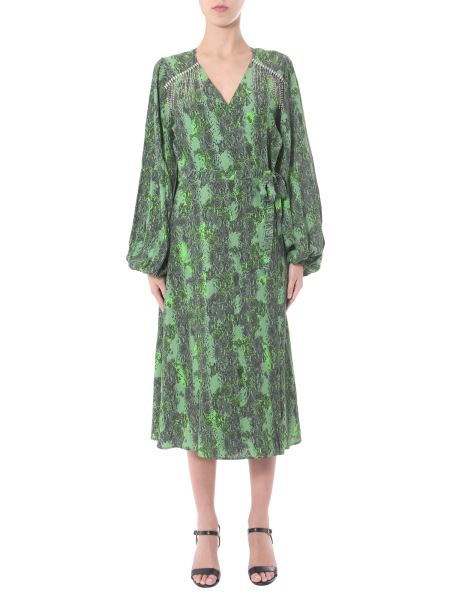 "Rotate Birger Christensen - ""kira"" Dress With V-neck And Strass"