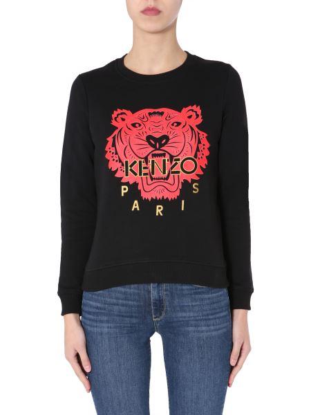 Kenzo - Crew Neck Cotton Sweatshirt With 3d Logo