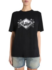 SAINT LAURENT - T-SHIRT GIROCOLLO