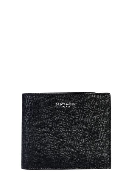 Saint Laurent - Bifold Wallet In Granulated Leather