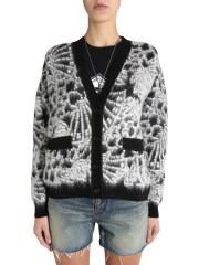 SAINT LAURENT - CARDIGAN SCOLLO A V